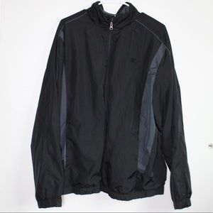 Black Starter Windbreaker Jacket